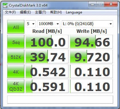 [軟體] CrystalDiskMark 硬碟、行動裝置效能測試工具 免安裝中文版