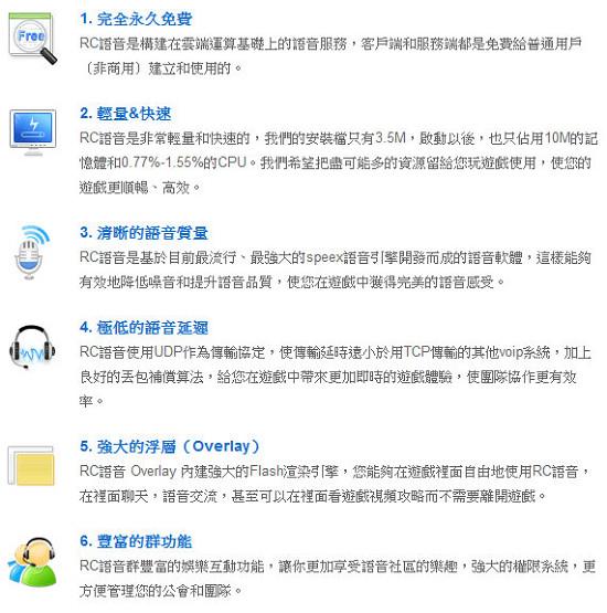 [電腦] RC語音 即時遊戲對話、群聊必備軟體 綠色免安裝下載