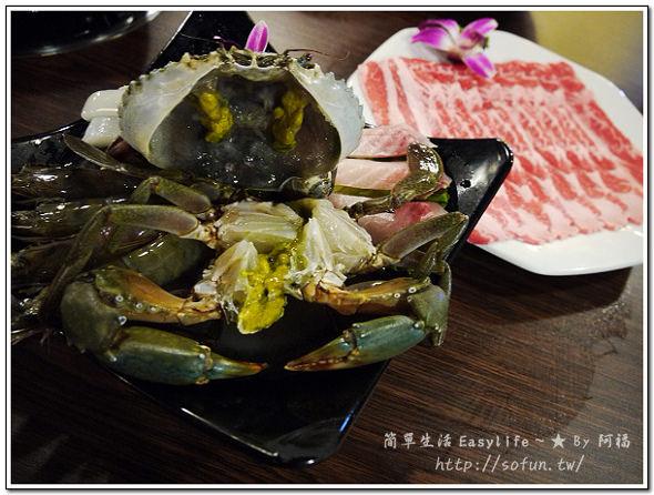 [食記] 台北中山區。八腳老大粥火鍋 ~ 此時品嘗秋蟹最肥美鮮甜