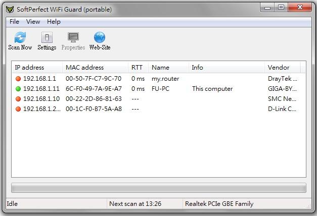 SoftPerfect WiFi Guard – 無線網路基地台網路連線狀態偵測@免安裝版