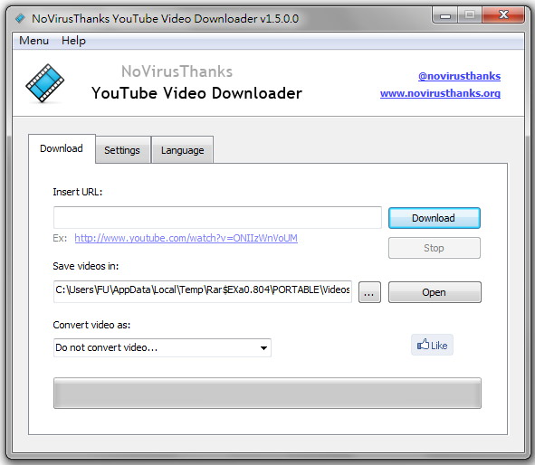 NoVirusThanks YouTube Video Downloader – YouTube 下載、影音轉檔軟體 免安裝中文版