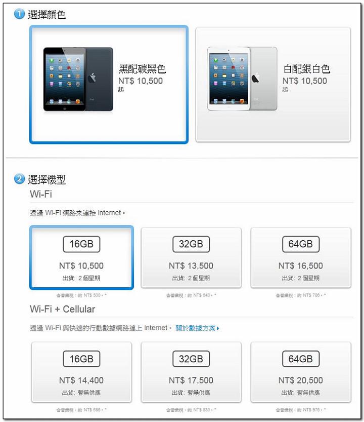 [標錯價] Apple Store 購買 iPad Mini 黑色 WiFi 版 免費升級 Cellular LTE 版加量不加價??