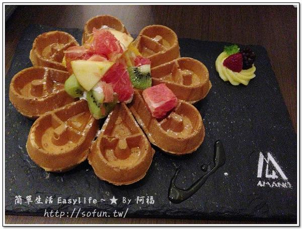 [下午茶] 台北甜點。4Mano Caffé 咖啡廳@推麻糬鬆餅 (近捷運忠孝新生)