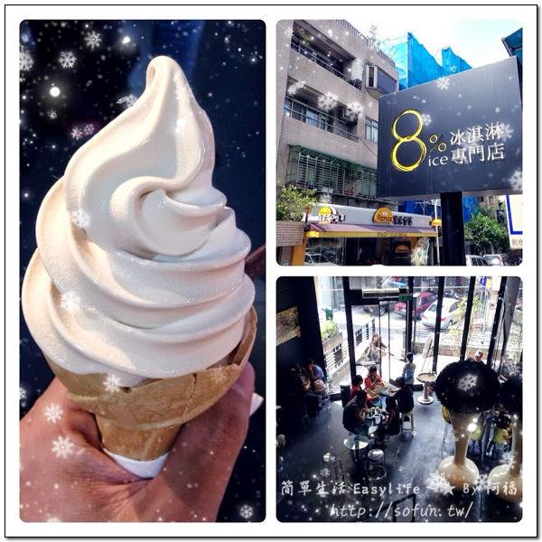 [冰品] 台北永康街東門捷運站。8%ice冰淇淋專門店@微甜不膩