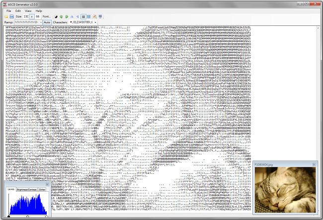 ASCII Generator – 圖片轉文字產生器@ASCII影片轉藝術字體軟體 (免安裝版)