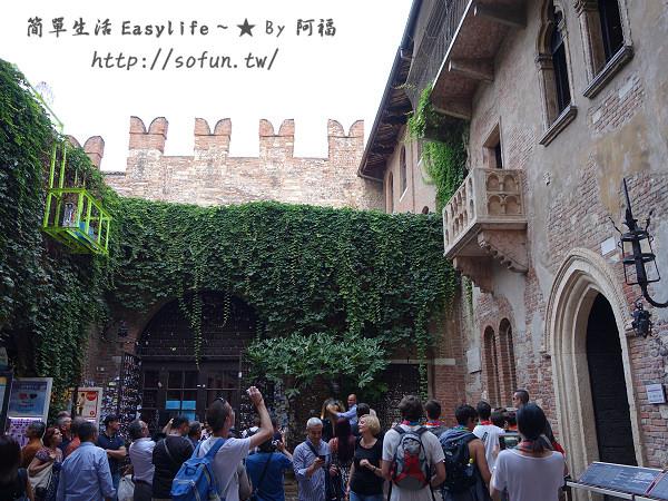 [義大利景點] 威諾那 Verona 茱麗葉的家、圓形競技場@爐烤披薩&義式肉排
