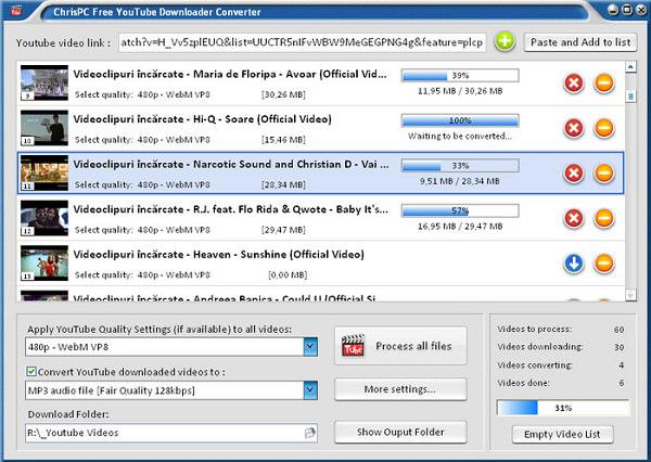 ChrisPC Free VideoTube Downloader – 網路影片.音樂批次下載軟體