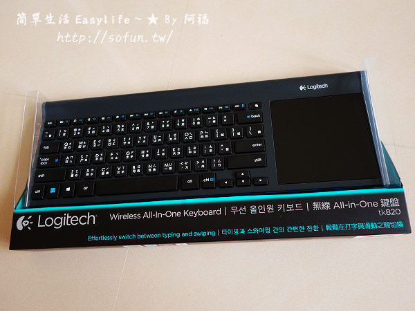[分享] 羅技無線觸控鍵盤 – tk820 開箱文@輕巧好打字