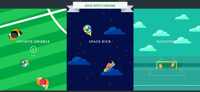 Google 世界盃足球遊戲 – Kick with Chrome@支援多人連線網頁遊戲
