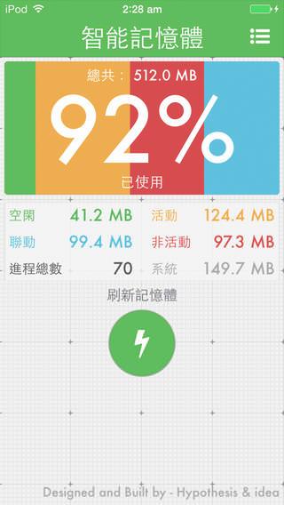 [App] 智能記憶體@釋放 iPhone、iPad 記憶體讓裝置程式執行順暢