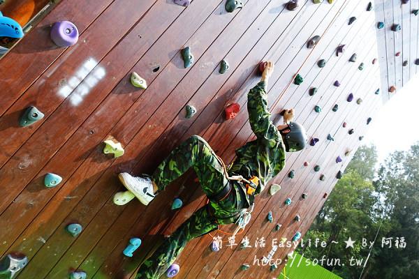 [遊記] 金門金湖鎮:柳營步兵軍事體驗園區@挑戰攀岩與高空繩索