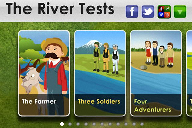 [iOS] The River Tests – 經典智力測驗過河遊戲