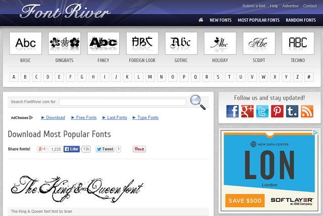 Font River 款式多樣 Windows、Mac 字型免費下載使用