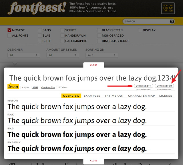 Fontfeest! 主打嚴選可商業使用、網頁顯示免費字型下載