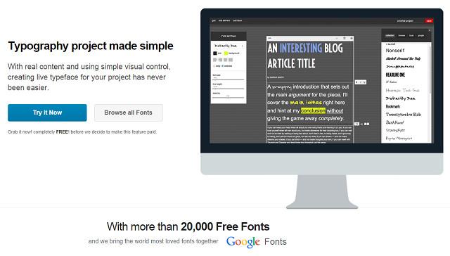 FontPro – 國外數萬個英文字型線上預覽、免費下載