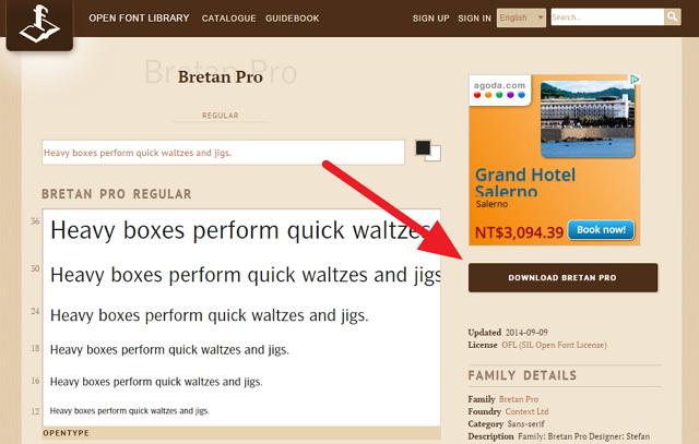 Open Font Library – 開放式字體免費下載@高達數百種,可用於研究分享.重新製作