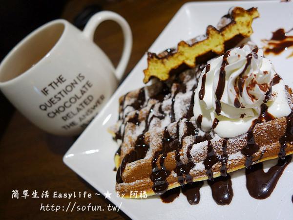 [甜點/午茶] in Joy 巧克力咖啡貓(板橋店)@巧克力濃郁.鬆餅美味