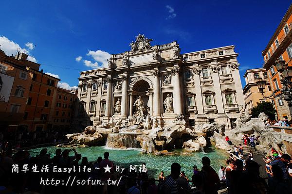 [遊記] 義大利。羅馬@特萊維噴泉許願池、西班牙廣場、破船噴泉