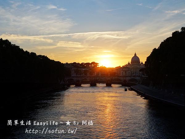 [羅馬遊記] 聖天使橋 & 聖天使古堡夕陽.夜景@晚餐吃無腥羶味小羔羊