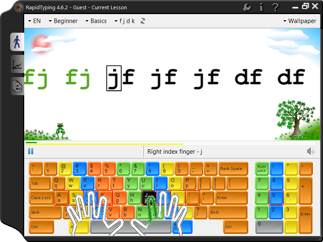 RapidTyping 免費英打練習 & 測速軟體下載@免安裝中文版