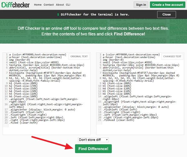 Diff Checker 免費協助線上比對文字/程式碼差異性平台