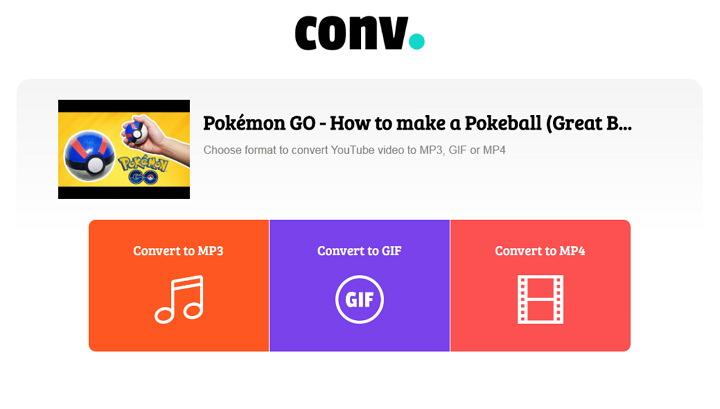 CONV. 免費線上 YouTube 影片轉存 MP3、GIF 或 MP4 檔案下載