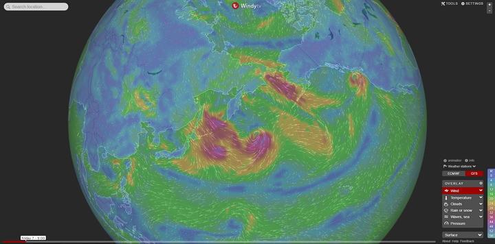 [實用] Windyty 動畫圖解天氣網站@輕鬆看懂氣象與颱風資訊