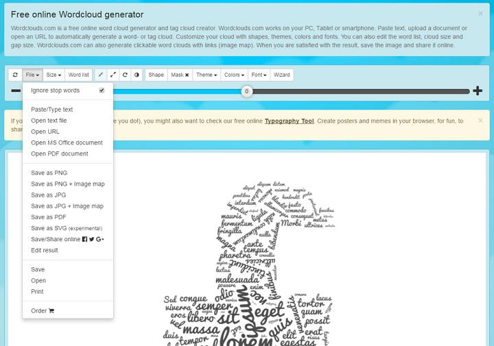 WordClouds.com 快速建立各種樣式文字造型拼貼圖片免費網站平台