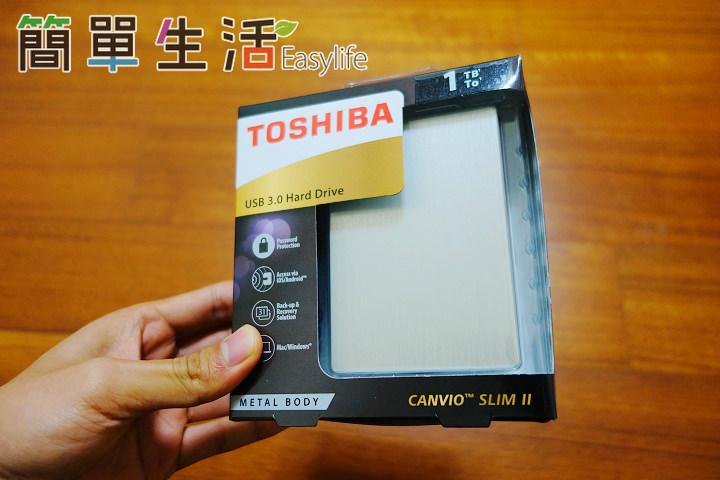 [開箱文] Toshiba CANVIO Slim II USB 3.0 行動硬碟測速@附使用心得評價