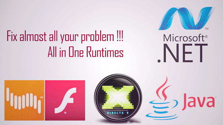 All in One Runtimes 自動安裝常用套件 .Net Framework、Visual C++、DirectX、JRE