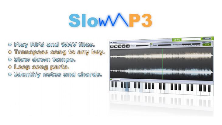 Slow MP3 可調整 MP3 播放速度/重複播放/升降 Key/卡拉 OK 模式多功能播放器軟體@免安裝