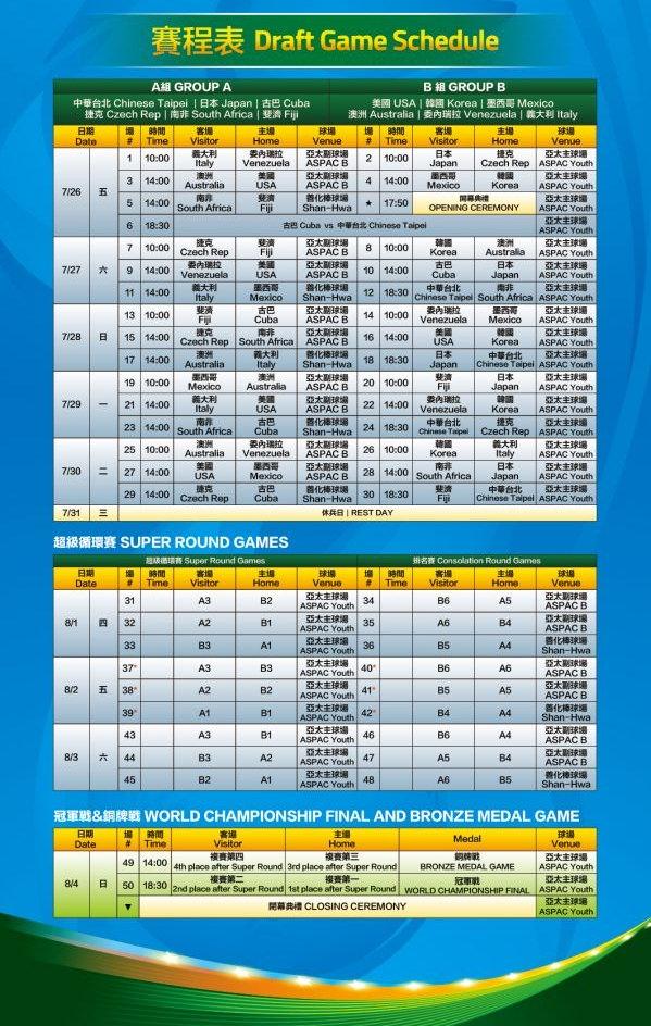 U12直播 | 2019 U-12 WBSC 世界盃少棒錦標賽程時間、網路轉播線上看
