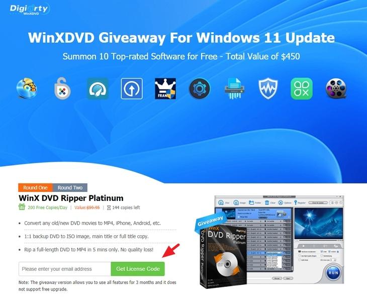 Digiarty x WinX HD 推出 Windows 11 升級系統領取 10 款正版軟體限時免費活動
