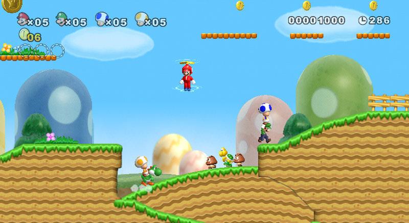 新超級馬力歐 WII New Super Mario Bros 遊戲畫面搶先看